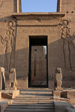 Philae temple entrance. Philae is an island in the Nile River and the previous site of an Egyptian temple complex in southern Egypt. The complex was dismantled Royalty Free Stock Photos