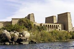 Philae temple of isis. On agilkia island in lake nasser, aswan, egypt Royalty Free Stock Photos