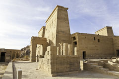 Philae temple of isis Stock Photography