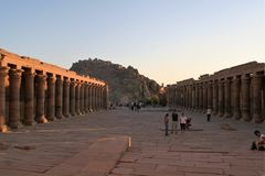 Philae Temple  of Isis. Temple of aisis Aswan Egypt Stock Photo