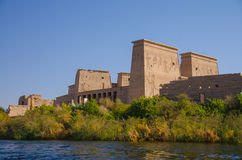 Philae Temple of Isis, Egypt. Philae Temple of Isis on Angilkia Island in Lake Nasser, Egypt Stock Photography
