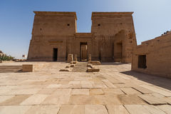 Philae Temple. The temple of Isis from Philae at its current location on Agilkia Island in Lake Nasser Stock Photos