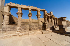 Philae Temple. The temple of Isis from Philae at its current location on Agilkia Island in Lake Nasser Stock Image