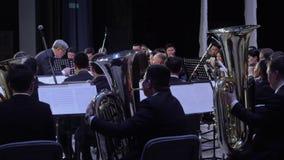 Philarmonic Orchestra concert stock footage