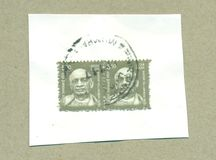 Philatelic Postal Stamp of India. Indian postal department postage stamp of noted Royalty Free Stock Image