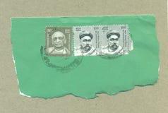 Philatelistischer Poststempel von Indien Stockbild