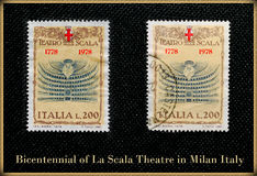 Philately La Scala Theatre in Milan Italy Stock Photography