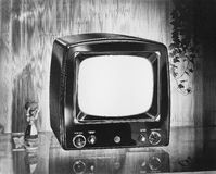 Philco brand portable television, circa 1952 Stock Photo