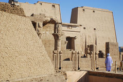 PHILEA TEMPLE. EGYPT NOV. 23: The complex was dismantled and relocated to nearby Agilkia Island during a UNESCO project started because of the construction of Royalty Free Stock Image