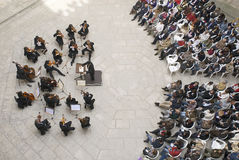 Philharmonic of Beiras. BATALHA ,PORTUGAL - APRIL 5:in Capelas imperfect, an Easter concert of the Philharmonic of Beiras Stock Photos