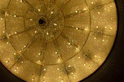 Philharmonic big-sized chandelier. Big chandelier in philharmonic hall Stock Photo