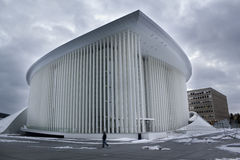 The Philharmonic builiding. On winter, in Luxembourg Stock Image