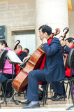 Philharmonic Orchestra(Cello) Stock Images
