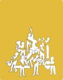 philharmonic sammansättningsorkester royaltyfri illustrationer