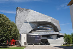 Philharmonie de París en Parc de la Villette Imágenes de archivo libres de regalías