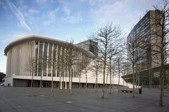 Philharmonie Luxemburgo na cidade de Luxemburgo Fotografia de Stock Royalty Free