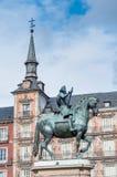 Philip ΙΙΙ στο δήμαρχο Plaza στη Μαδρίτη, Ισπανία Στοκ εικόνες με δικαίωμα ελεύθερης χρήσης