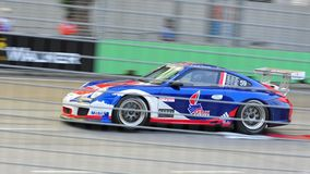 Philip Briandet racing at Porsche Carrera Cup Asia Stock Photo
