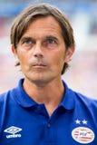 Philip Cocu Trainer de PSV Imágenes de archivo libres de regalías