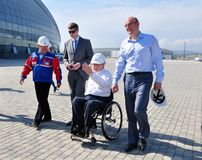 Philip Craven Sochi odwiedzony Olimpijski park Obraz Stock