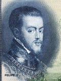 Philip II du portrait de l'Espagne Image libre de droits