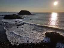 Philip Island, Victoria, Austrália - por do sol fotografia de stock royalty free