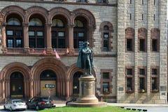 Philip John Schuyler Monument, Albanien, NY, USA lizenzfreies stockbild