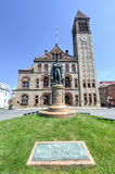 Philip John Schuyler Monument, Albany, New York. Monument to Philip John Schuyler in front of the Albany City Hall. American Revolutionary officer who served in Royalty Free Stock Photos