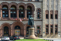 Philip John Schuyler Monument, Albany, NY, USA. Philip John Schuyler Monument at the front of Albany City Hall in downtown Albany, New York State, USA. Philip Royalty Free Stock Image