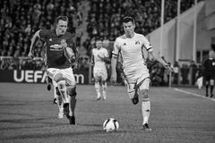 Philip Jones, Game moments. In match 1/8 finals of the Europa League between FC `Rostov` and `Manchester United`, 09 March 2017 in Rostov-on-Don, Russia Stock Photo