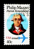 Philip Mazzei 1730-1816, escritor político italiano de origem, serie, cerca de 1980 Fotografia de Stock Royalty Free