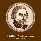 Philip Melanchthon 1497 – 1560 was a German Lutheran reformer, collaborator with Martin Luther, the first systematic theologian. Of the Protestant stock illustration