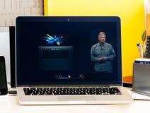 Philip Schiller przedstawia nowego OLED baru Obraz Stock