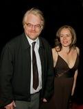 Philip Seymour Hoffman und Mimi O'Donnell Stockbild