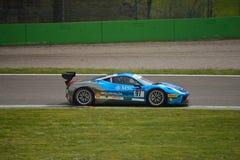 Philipp Baron Ferrari 458 utmaning Evo på Monza Royaltyfria Bilder