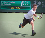 Philipp Kohlschreiber at the 2010 BNP Paribas Open Royalty Free Stock Images