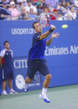 Philipp Kohlschreiber during  fourth round match at US Open 2013 against twelve times Grand Slam champion Rafael Nadal Stock Photos
