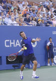 Philipp Kohlschreiber during  fourth round match at US Open 2013 against twelve times Grand Slam champion Rafael Nadal Royalty Free Stock Photo