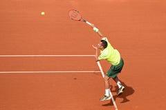 Philipp Kohlschreiber (jugador de tenis de Alemania) en el ATP Barcelona Imagen de archivo libre de regalías