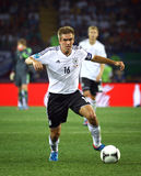 Philipp Lahm of Germany controls a ball Stock Images
