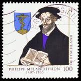 Philipp Melanchthon 1497-1560, 500o aniversario del nacimiento del serie de Phillipp Melanchthon, circa 1997 imagen de archivo libre de regalías
