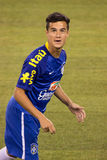 Philippe Coutinho. This image shows Brazil and LiverpoolFC midfielder and superstar Philippe Coutinho during the 2014 Brazilian Global tourvs. Ecuador at MetLife royalty free stock photography