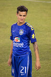 Philippe Coutinho. This image shows Brazil and LiverpoolFC midfielder and superstar Philippe Coutinho during the 2014 Brazilian Global tourvs. Ecuador at MetLife royalty free stock image