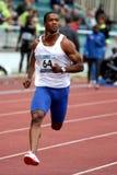 Philippe DeRosier - 100 medidores de sprint Foto de Stock