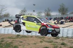 Philippe Maloigne Barcelona FIA Rallycross Światowy mistrzostwo Fotografia Stock