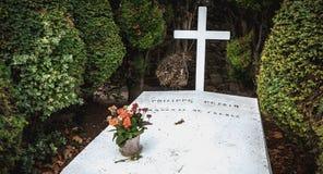 Philippe Petain Marechal de Γαλλία στα γαλλικά που γράφονται στον τάφο όπου είναι θαμμένος λιμένας Joinville, Γαλλία στοκ εικόνες
