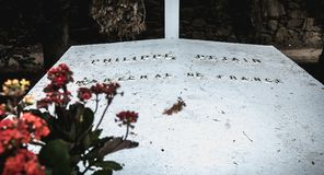 Philippe Petain Marechal de Γαλλία στα γαλλικά που γράφονται στον τάφο όπου είναι θαμμένος λιμένας Joinville, Γαλλία στοκ εικόνα με δικαίωμα ελεύθερης χρήσης