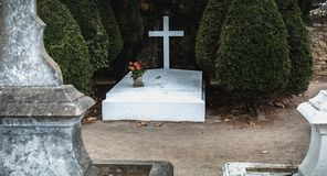 Philippe Petain Marechal de Γαλλία στα γαλλικά που γράφονται στον τάφο όπου είναι θαμμένος λιμένας Joinville, Γαλλία στοκ εικόνα