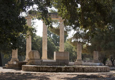 Philippeion in the Altis of Olympia Royalty Free Stock Photo