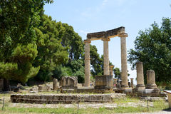 The Philippeion ruins in ancient Olympia Royalty Free Stock Images